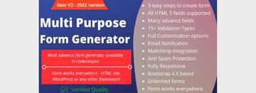 Multipurpose PHP Form Generator