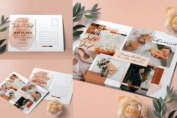 Wedding Invitation Collage Template (PSD)