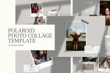 Minimalist Polaroid Collage Template (PSD)