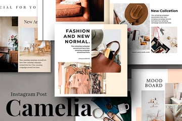 Camelia Instagram Post Collage Template (PSD)