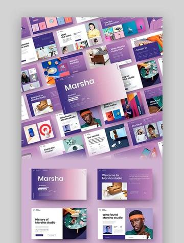 Marsha – Business PowerPoint Template