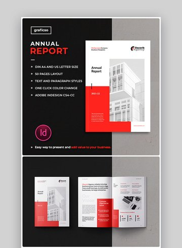 Annual Report InDesign Template 21/22