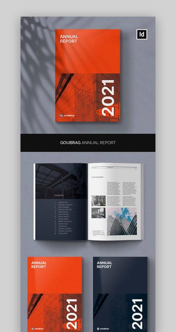 Bold Annual Report InDesign Download
