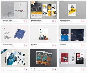 Envato Elements offers unlimited InDesign report templates.