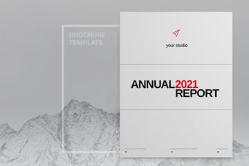 The Minimalist Annual Report InDesign Template is a great choice for 2021.