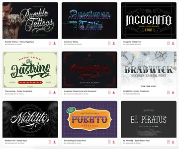 Enjoy unlimited downloads of cool tattoo fonts from Envato Elements.