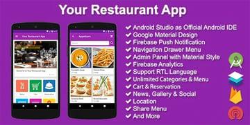 Your Restaurant App -Restaurant Android App Template
