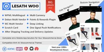 Lesath - Ionic 5 WooCommerce Full Mobile App Solution
