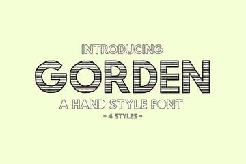 Gorden - A Hand Style Font (OTF, TTF)