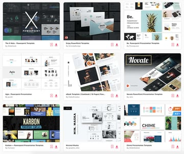 These are some of the best PowerPoint templates available on Envato Elements.