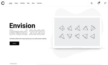 Ozark - Minimal Portfolio WordPress Theme is a great example of good white space use.