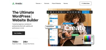 Avada is one of the highest rated WordPress themes with top sales.