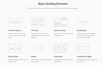 Best best premium themes like Bridge feature lots of elements to mix and match.