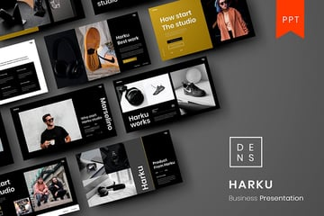 Harku is one of the new PowerPoint presentations on Envato Elements.