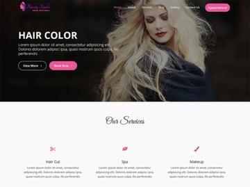Beauty Studio Free Beauty Salon Website Theme