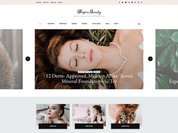 Blossom Beauty Free Beauty Salon Website Theme