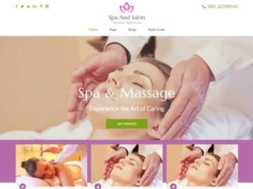 Spa and Salon Free Spa Website Theme