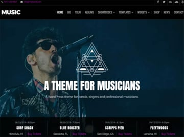 Music Lite Free WordPress Theme For Musicians