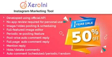 XeroIni - Instagram Post PHP Script Scheduler Marketing Tool