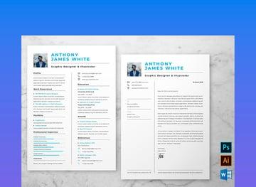 Photoshop resume template
