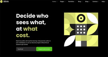 This WordPress landing page template focuses on a clean design and engaging headline.
