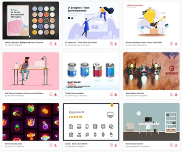 Envato Elements offers you unlimited Affinity Designer assets with your subscription.