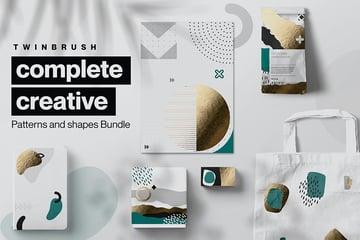 Creative Shape and Patterns Bundle (AI, PDF, EPS, PNG)