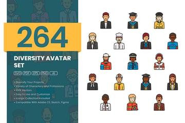 Diversity Icons (AI, EPS, PDF, PNG, SVG)