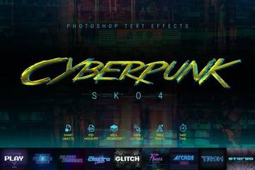 Cyberpunk - 80s Retro Text Effects