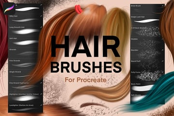 Procreate Hair Brushes Pack
