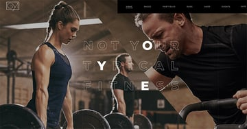 Powerlift is a popular gym website template for Wordpress.