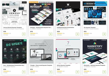 Buy cool Keynote templates one at a time from GraphicRiver.