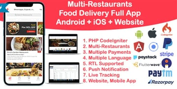 Food Delivery Ionic Mobile App Template