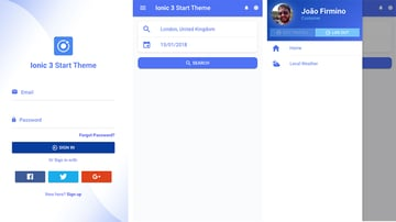 Free Ionic Mobile App Template