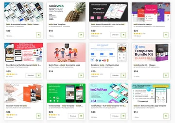 Get the best Ionic ready made app templates from CodeCanyon.