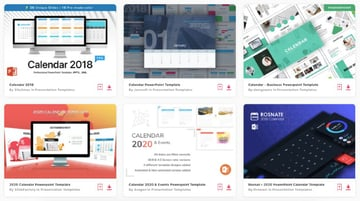 Enjoy unlimited downloads of PowerPoint monthly calendar templates from Envato Elements