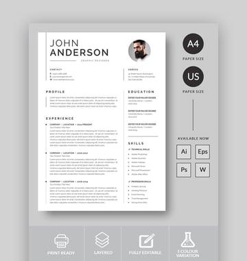 Minimalist Single Page Resume