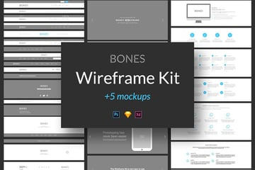 Bones Wireframe Template Kit