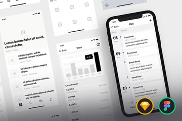 iPhone Wireframe Template Kit