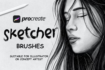 You can use these Procreate sketch brushes for your next drawing.