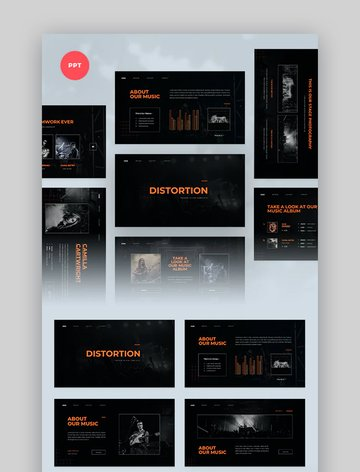 Distortion - Music Presentation Template