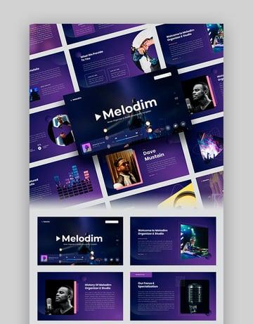 Melodim – Music PPT Organizer Studio Template