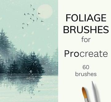Foliage Procreate Tree Brushes