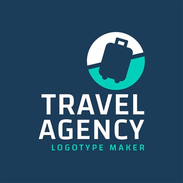 Travel Logo Template with Baggage Icon