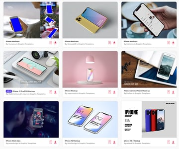 Choose from thousands of premium iPhone mockups and download as many as you want from Envato Elements.