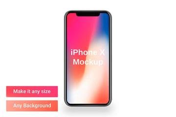 iPhone X Mockup Template (PSD)