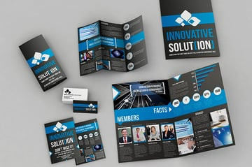 Set of Brochures - Stationery Pack (AI, EPS, INDD, PSD)