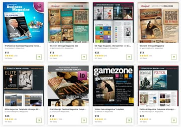 Get the best magazine templates one at a time from GraphicRiver