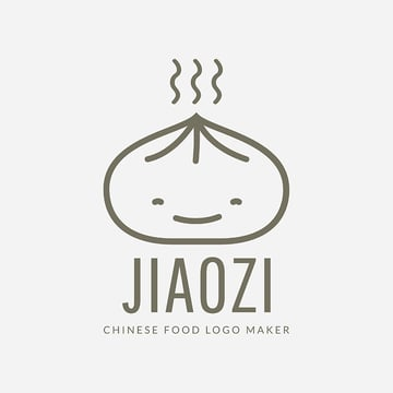 Chinese Restaurant Logo Maker with Dumpling Drawing