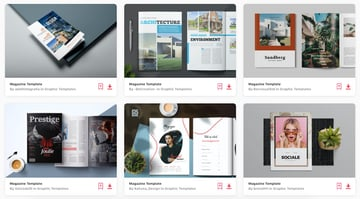 Enjoy unlimited InDesign magazine templates from Envato Elements